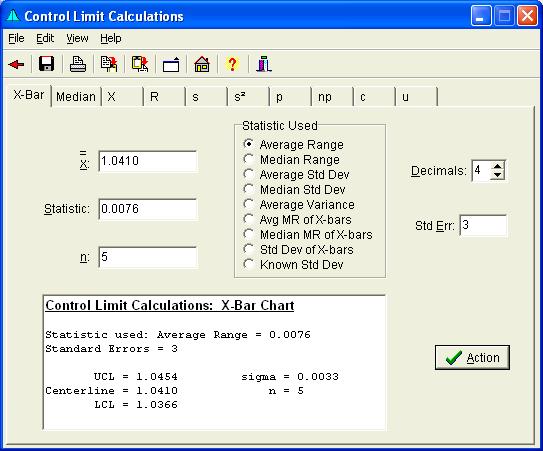 Mvpstats Help Control Limit Calculations Form